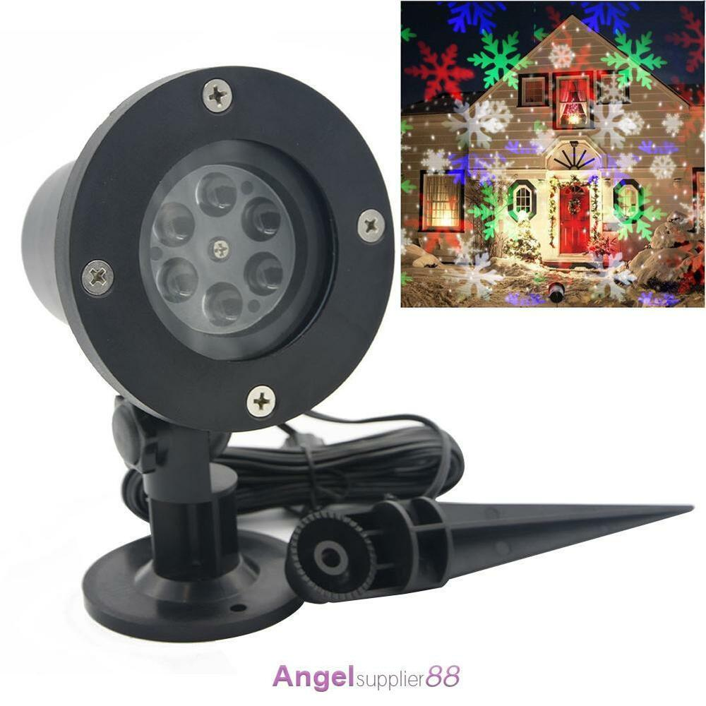 Laser star led snowflake christmas xmas home garden light shower outdoor decor a ebay for Projecteur shower