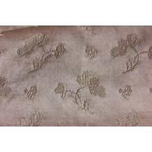 Antique French 19thC Floral Patterned Lyon Silk Brocade Lampas Fabric c1890