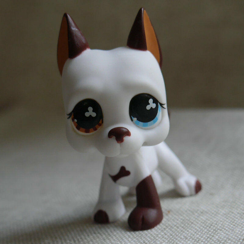 Lps Collection Figure Cream White Great Dane Dog 2