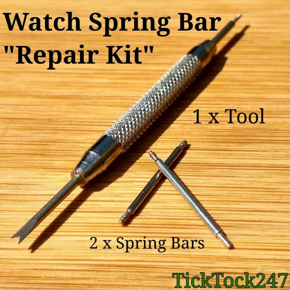 2 X Watch Strap Spring Bars Pins 1 X Spring Bar Removal Tool Sizes