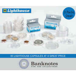 Kyпить 41mm Lighthouse Coin Capsules Direct Fit US Silver Eagles Holders 3 Packs 30 на еВаy.соm