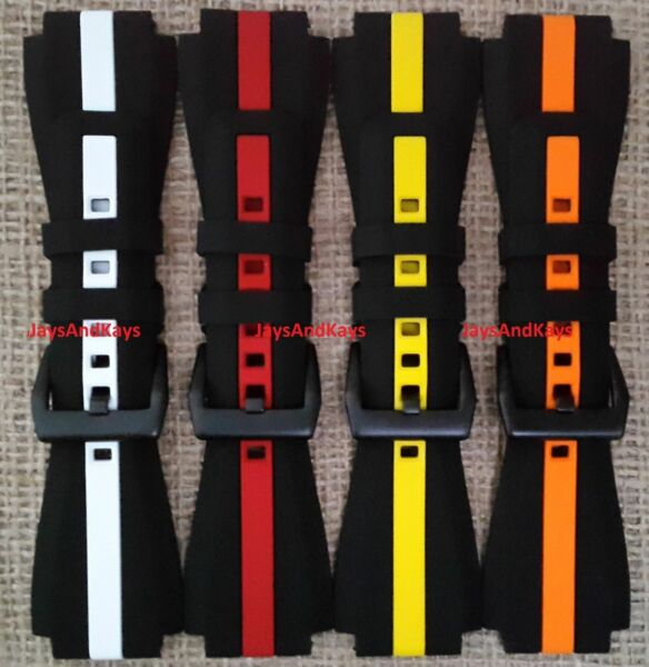 JaysAndKays® 24mm Striped Silicone Rubber Strap/Band for Sony Smart Watch 2 II