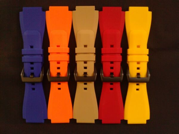 JaysAndKays® Replacement Strap Band for Bell & Ross BR-01 BR-03 PVD 24 mm 24mm