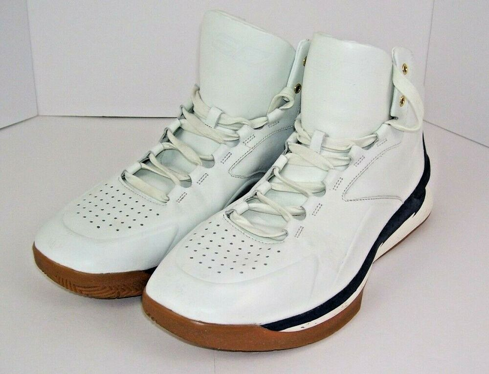 d2b125bf7cc1 Details about UNDER ARMOUR MENS BASKETBALL SHOES SC SZ 15 UA WHITE CURRY 1  LUX MID 1296616-100