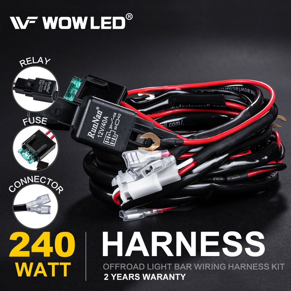 Runnan Wiring Harness Connectors Wire Diagrams Off Road Kits Waterproof Relay Fuse Kit For Control 2 Led Driving Automotive