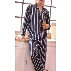 Kyпить DELIVER 5 DAYS Mens Silk Satin Pajamas Set US Sizes Loungewear Home wear Pants  на еВаy.соm