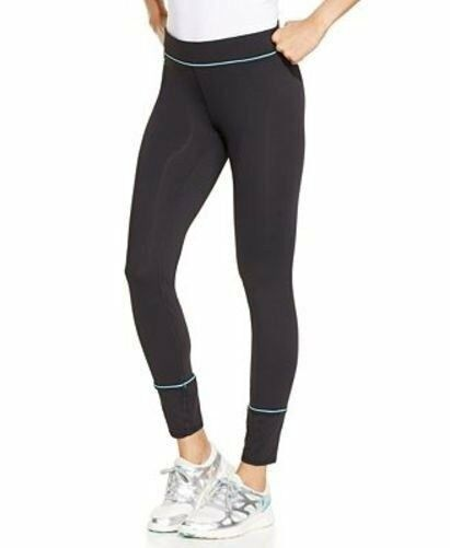 fc48aea853aa9 Details about NEW Jockey Stay Cool Sporty Leggings Black Full Length  Athletic Wide Waistband S
