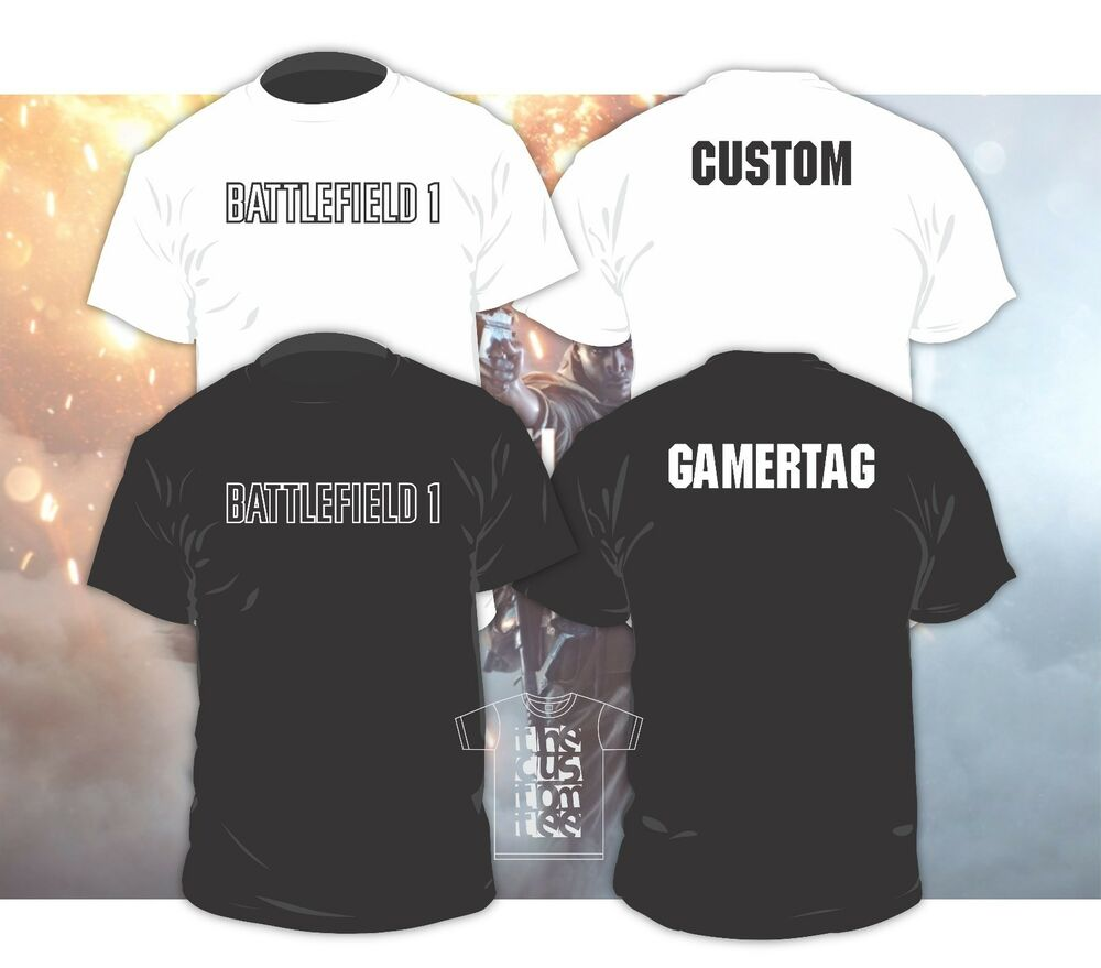 Battlefield 1 Gamertag Shirt Or Hoodie With Custom Text Ebay