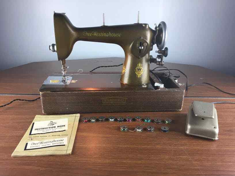RARE Free Westinghouse Sewing Machine Type E Vintage W Original Custom Free Westinghouse Sewing Machine Value