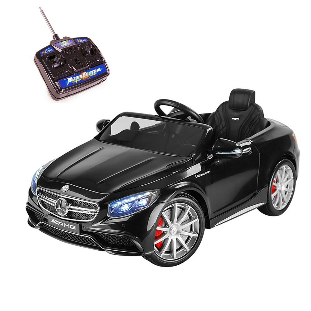 batterie voiture 12v enfants 3 8 ans mercedes amg s63 t l commande playkin ebay. Black Bedroom Furniture Sets. Home Design Ideas