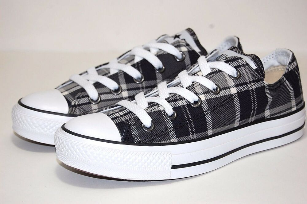 ed6b7548bb19 Details about Converse All Star CT Plaid OX 110747F Black Women Shoes