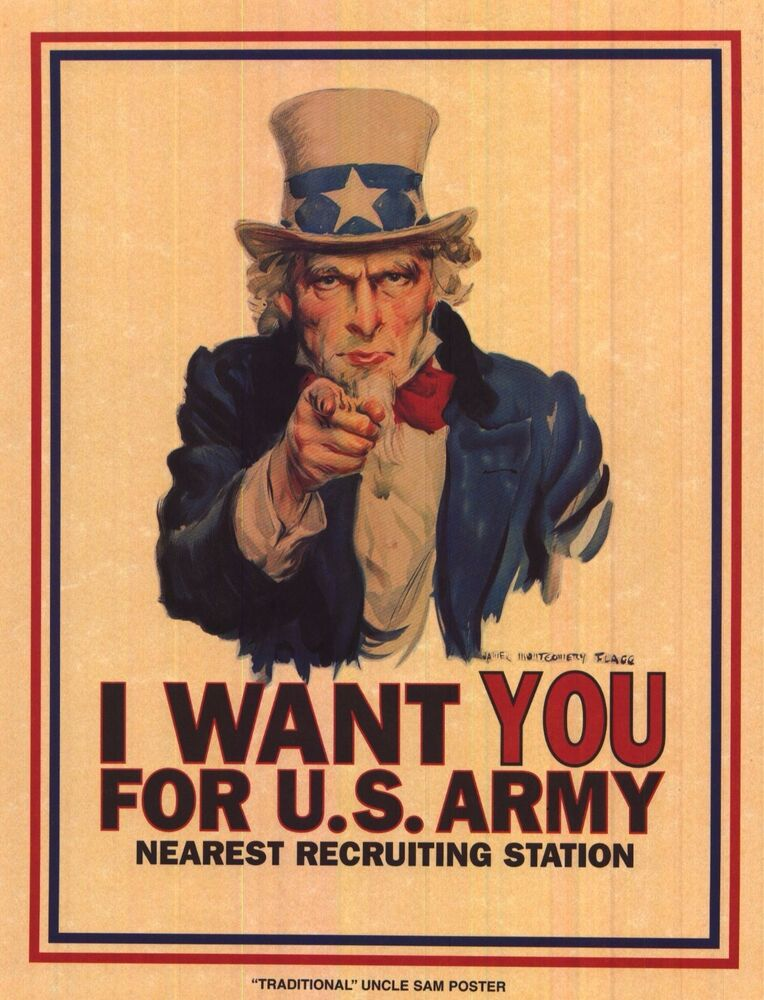 ww2 uncle sam i want you motivation poster on parchment wwii classic