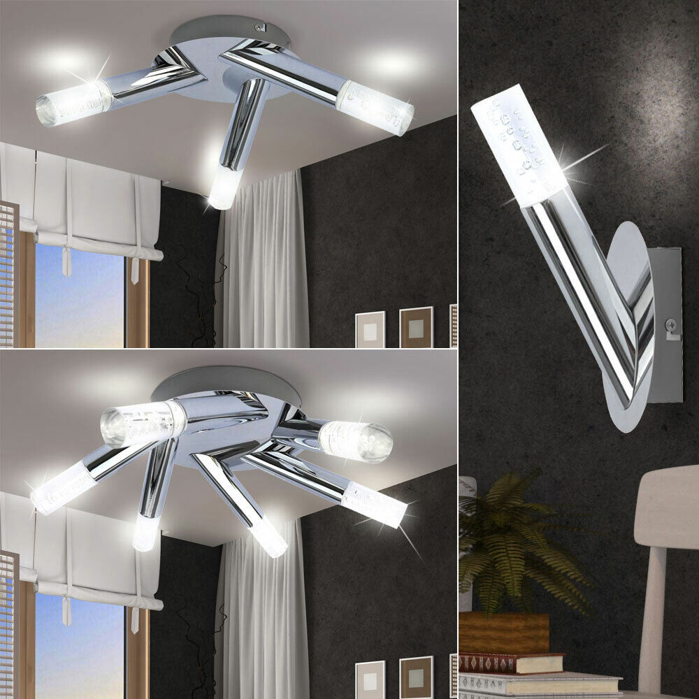 Luxury LED Wall Lights Living Room Ceiling Lamps Chrome