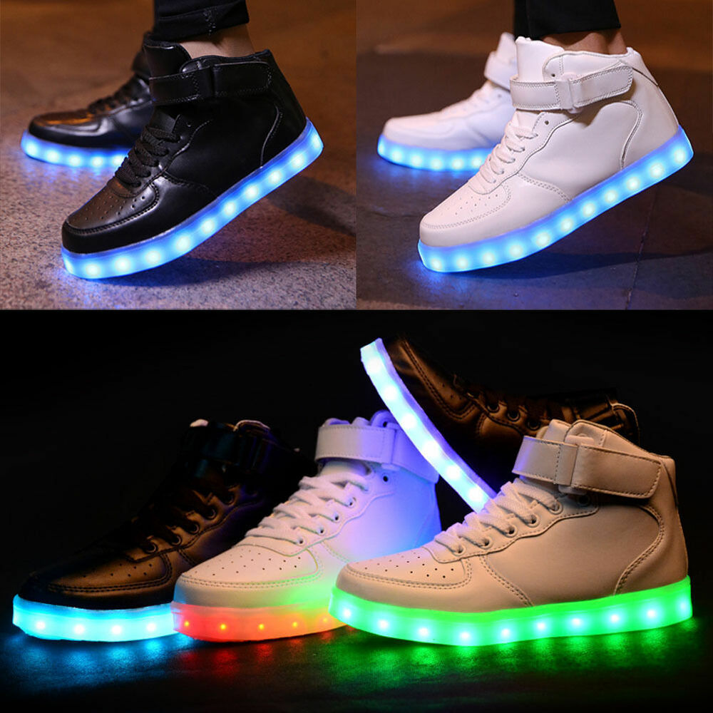 Details about Flashing Kids Girl Boy LED Light Up Shoes Trainers USB  Charger Luminous Sneakers 883f64cc4