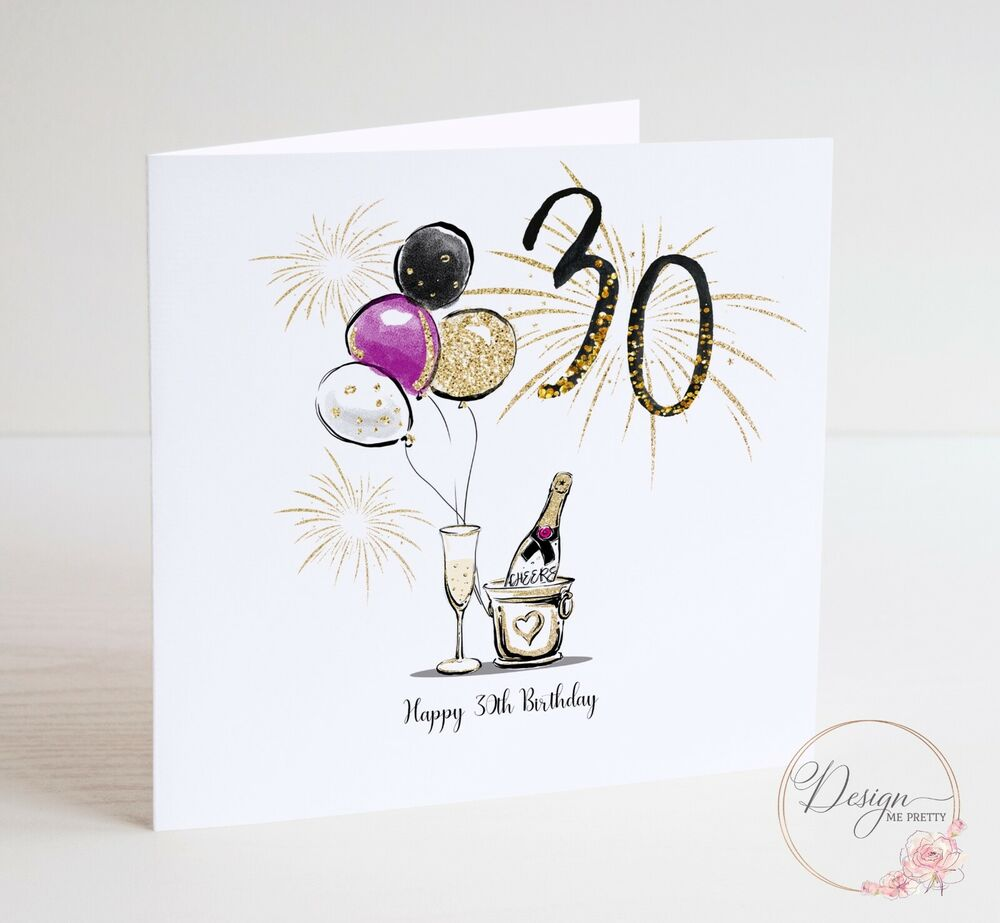 Details About LUXURY Thirtieth 30th Birthday Card