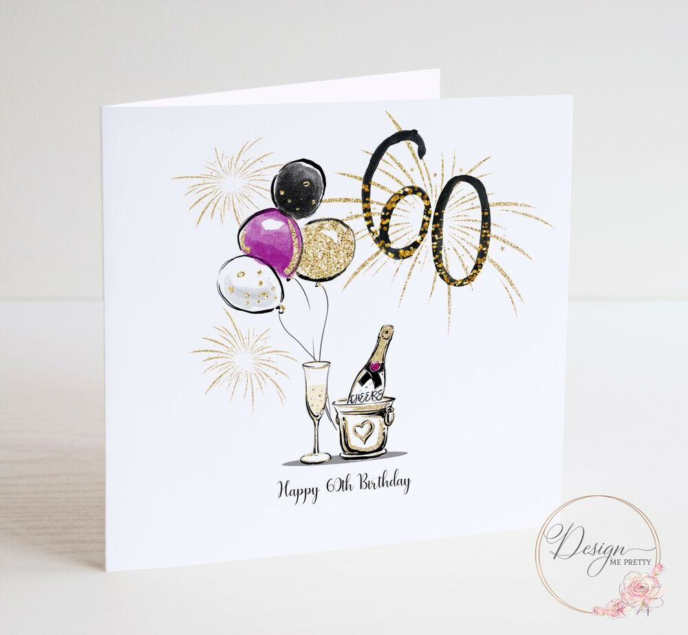 Details About LUXURY SIXTIETH 60th Birthday Card