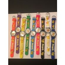 NEW CHILDREN CHARACTER WATCHES-- 1 PC-(POKEMON)-YOU CHOOSE BAND COLOR BELOW