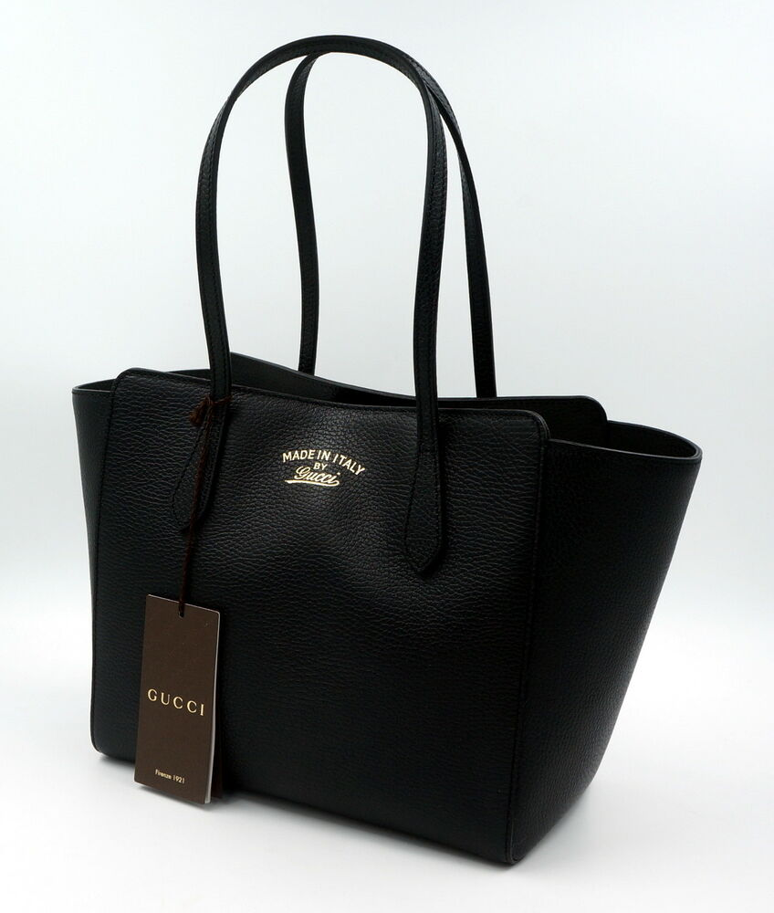 original gucci tasche shopper gg swing leder schwarz. Black Bedroom Furniture Sets. Home Design Ideas