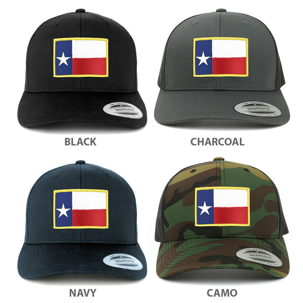 515f57bf0de124 Details about Texas State Flag Embroidered Iron on Patch Snapback Mesh  Trucker Cap - FREE SHIP