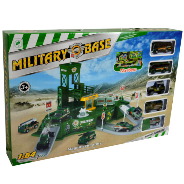 Large Military Base Army Control Center With Army Cars Combat Squad Amry Vehical