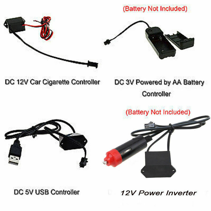3V/5V/12V/USB Controller Inverter for 1-5m Glow Neon Light Strip ...
