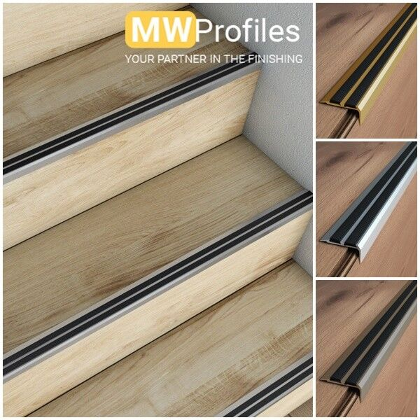 Aluminium Stair Nosing Edge Trim Step Nose Edging Nosings
