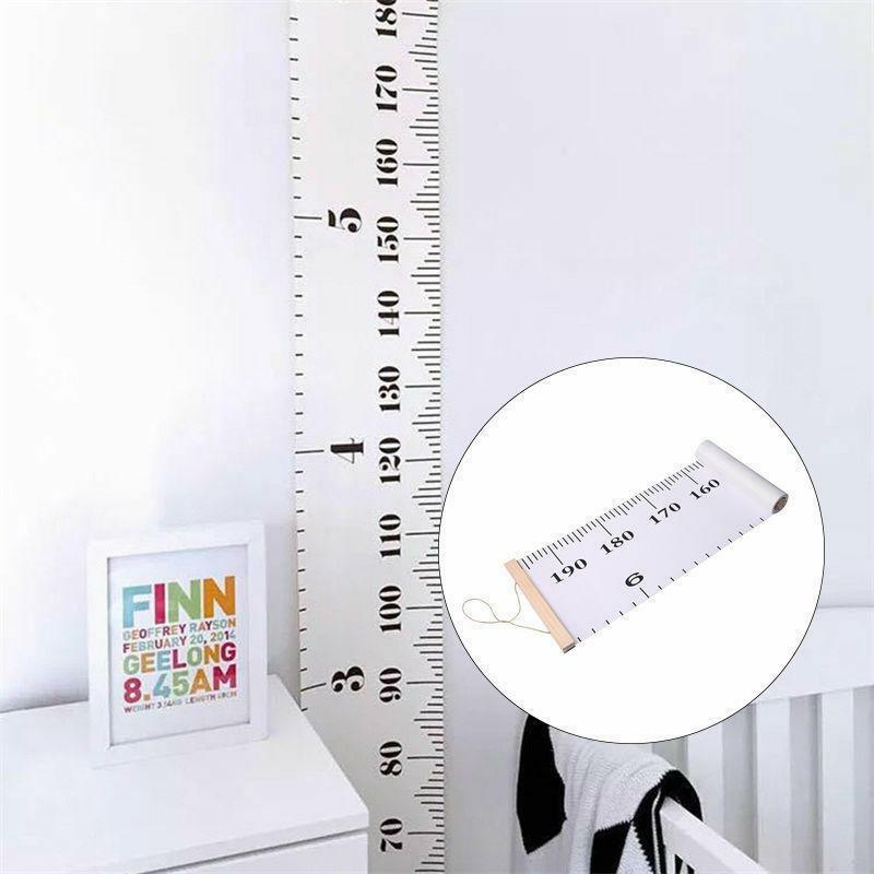 Wooden Wall Hanging Kids Growth Chart Baby Child Height Measure