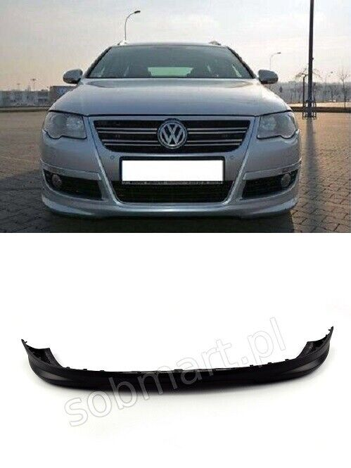 vw passat b6 3c r line front bumper spoiler tuning ebay. Black Bedroom Furniture Sets. Home Design Ideas