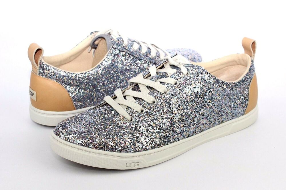 1e4bff8e6dc1 Details about UGG KARINE CHUNKY GLITTER SILVER MULTI TENNIS SHOES US SIZE 6  WOMENS