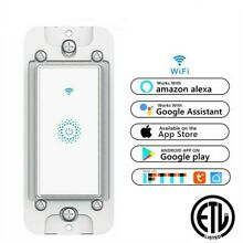 Nexete Smart Light Switch WiFi In-Wall Remote Alexa Google Smart Life app