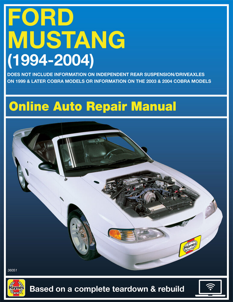 1999 ford mustang haynes online repair manual select access ebay rh ebay com 04 Ford Mustang Repair Manual 2013 Ford Mustang Repair Manual