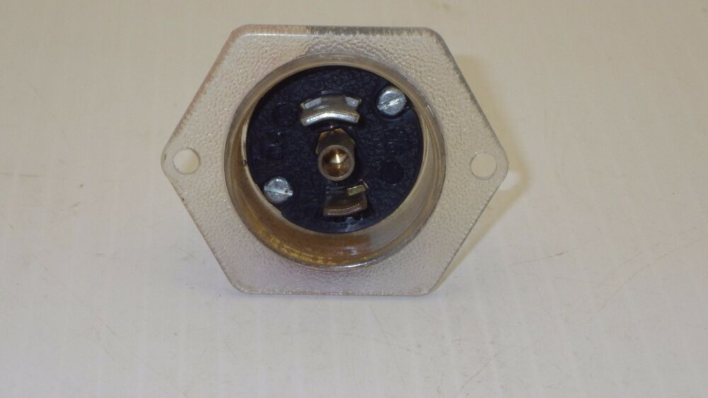 1PC Hubbell HBL 7595 15A 125V Twist-Lock Midget Flanged Inlet ML-2P