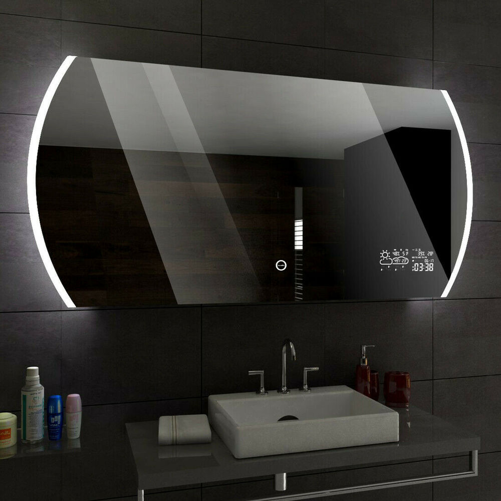 baltimore miroir salle de bain lumineux led interrupteur accessoires miroir ebay. Black Bedroom Furniture Sets. Home Design Ideas