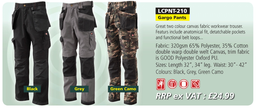 dea099965e Lee Cooper Mens Work Wear canvas pocket Trousers Pants 30