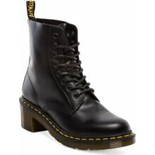 Dr. Martens Women`s 1460 Clemency 8-Tie Heel Black Smooth Boot ALL SIZES!! RARE!