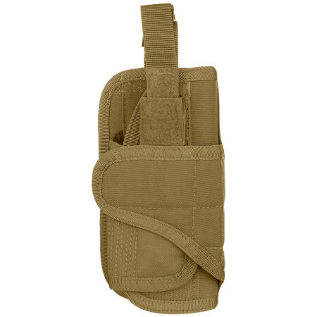 img-Condor Vertical Army Pistol Holster Military Patrol MOLLE Gun Case Coyote Brown