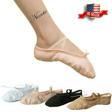 Toddler Girl & Adult  Ballet Dance Slipper Split-Sole Classic  #2  Canvas Shoes