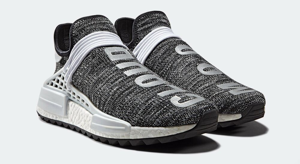 52e59a6b7ddb Details about Adidas Pharrell NMD Trail Human Race Black White Size 14.  ac7359 yeezy boost