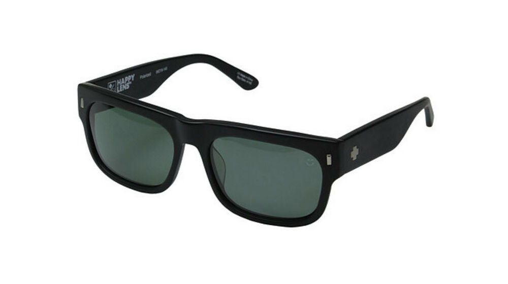 93258e3af7 Details about SPY Optic Hennepin Sunglasses Matte Black Happy Grey Green  Polarized NEW in box
