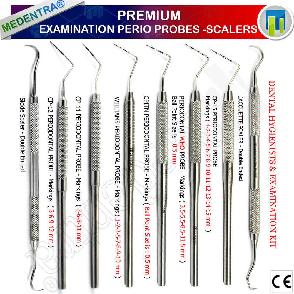 Basic Periodontal Examination Probes Calculus Remover Sickle Scaler ...