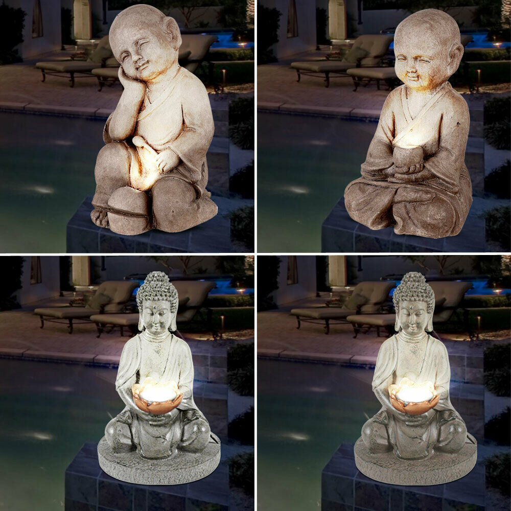 Buy Antique Handcrafted Buddha Lantern For Corporate: Design LED Solar Lights Buddha Figurines Garden Decoration