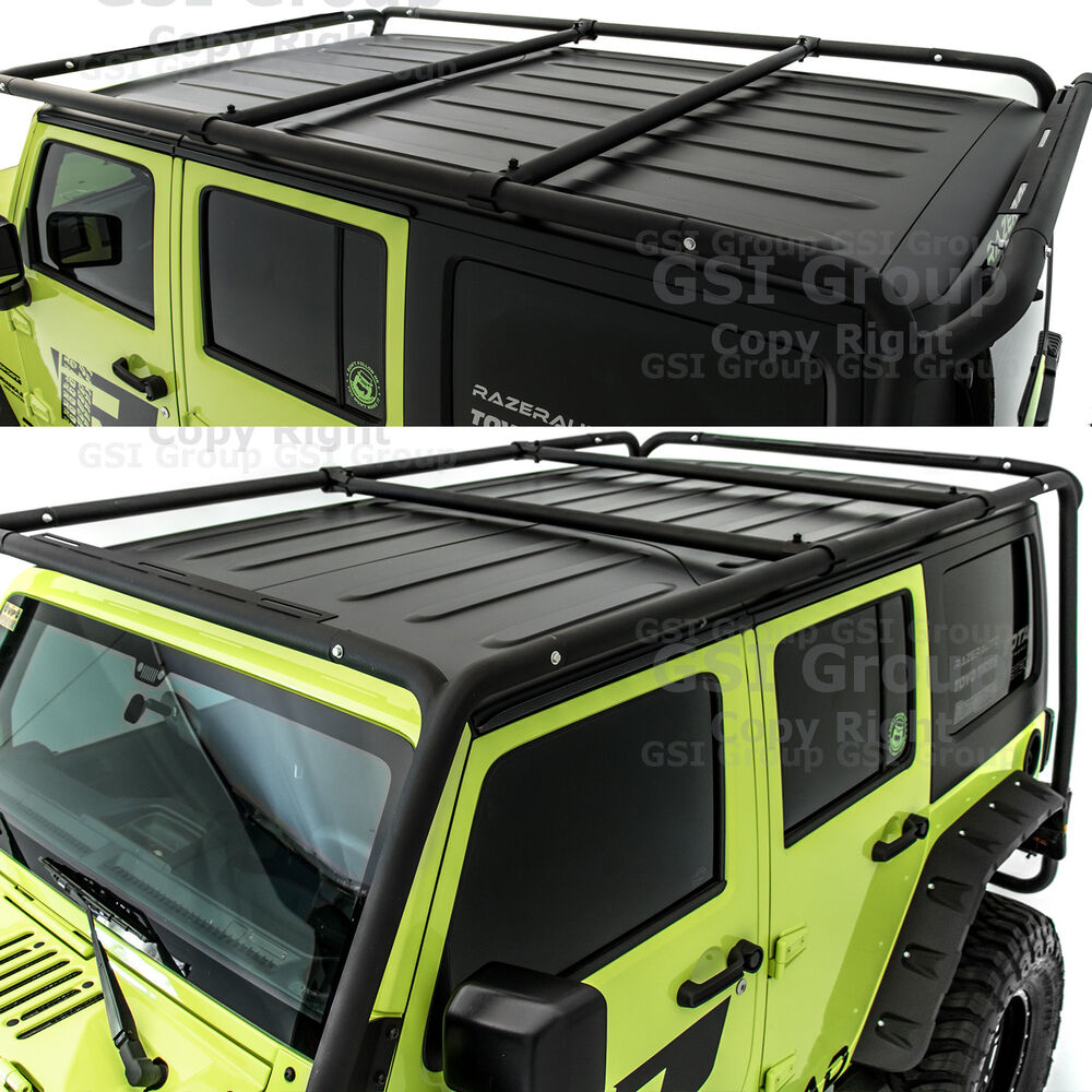 Cargo Roof Rack System Base Top Cross Bar For 07 18 Jeep