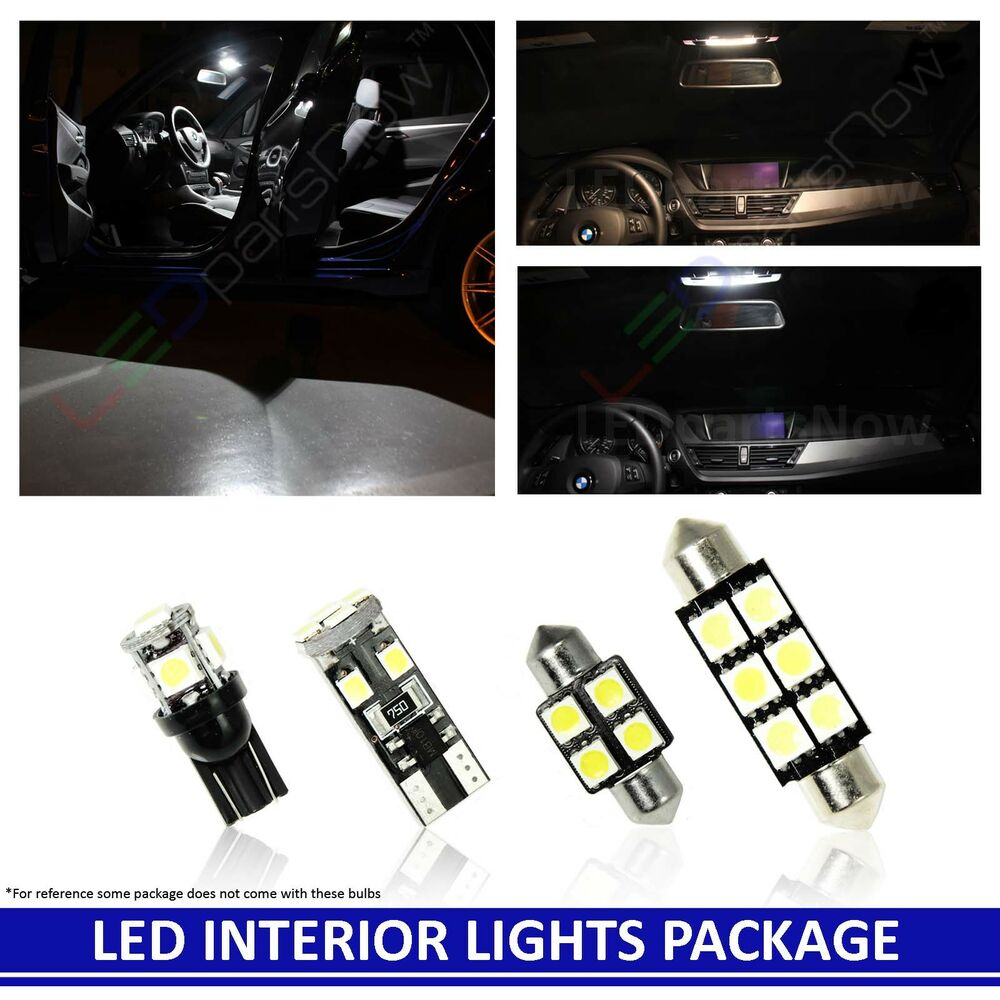 WHITE LED Interior Lights Replacement Package Kit For 2001