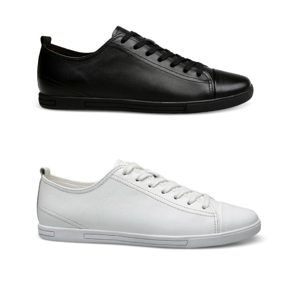 New Men/'s Casual Genuine Leather Shoes Lace-up Sneakers Oxford Breathable Shoes