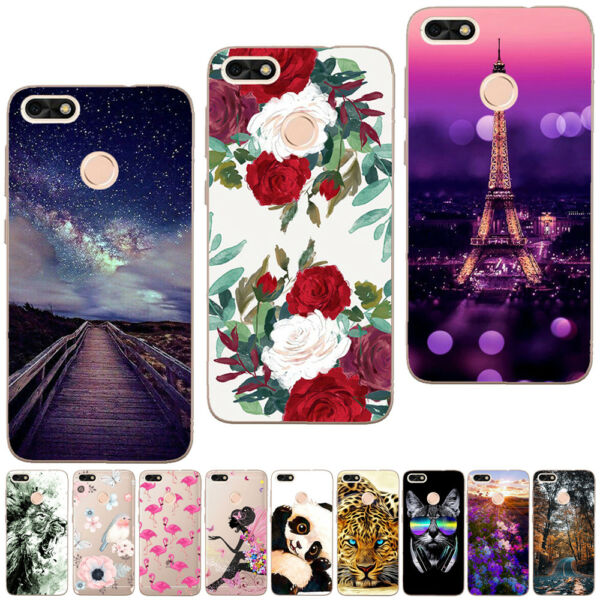 For Huawei P20 Pro P8 P9 P10 Lite Silicone Painting Painted Slim TPU Cover Case