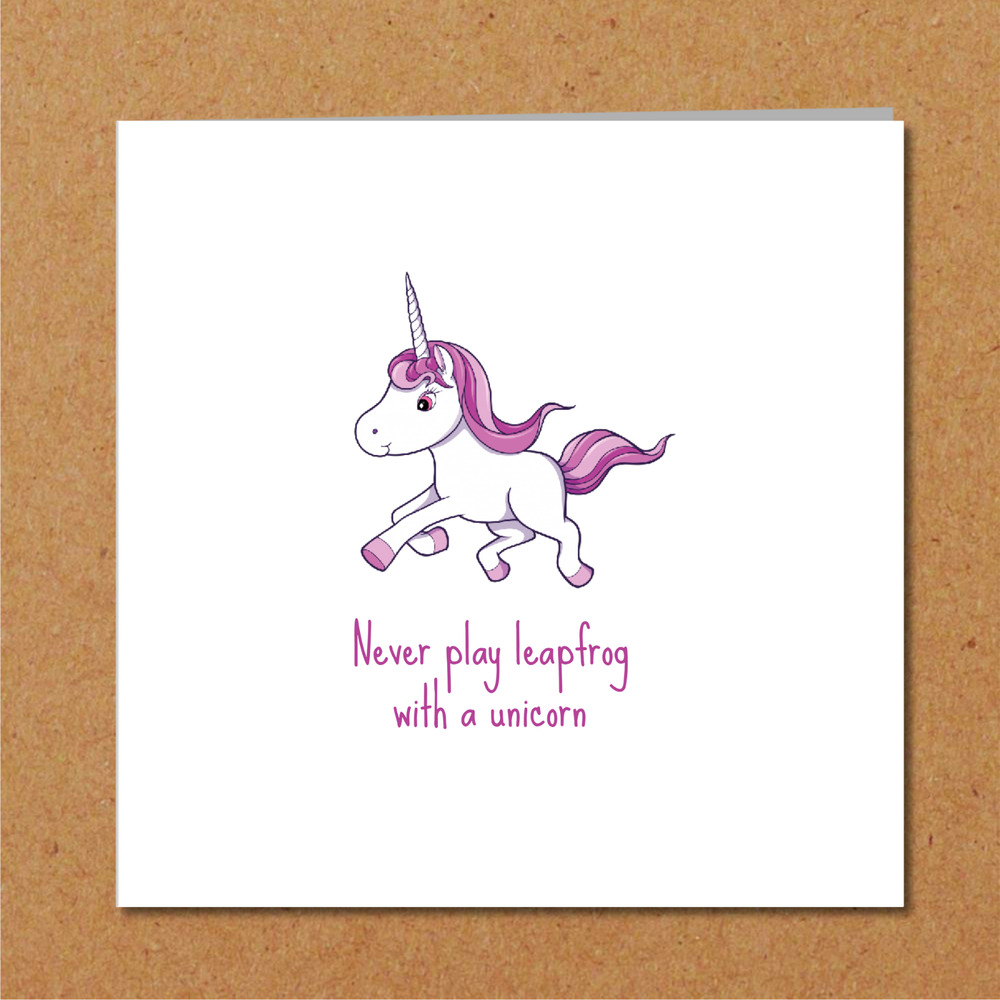 Details About UNICORN Birthday Card For Girl Friend Daughter Boyfriend Funny Humorous