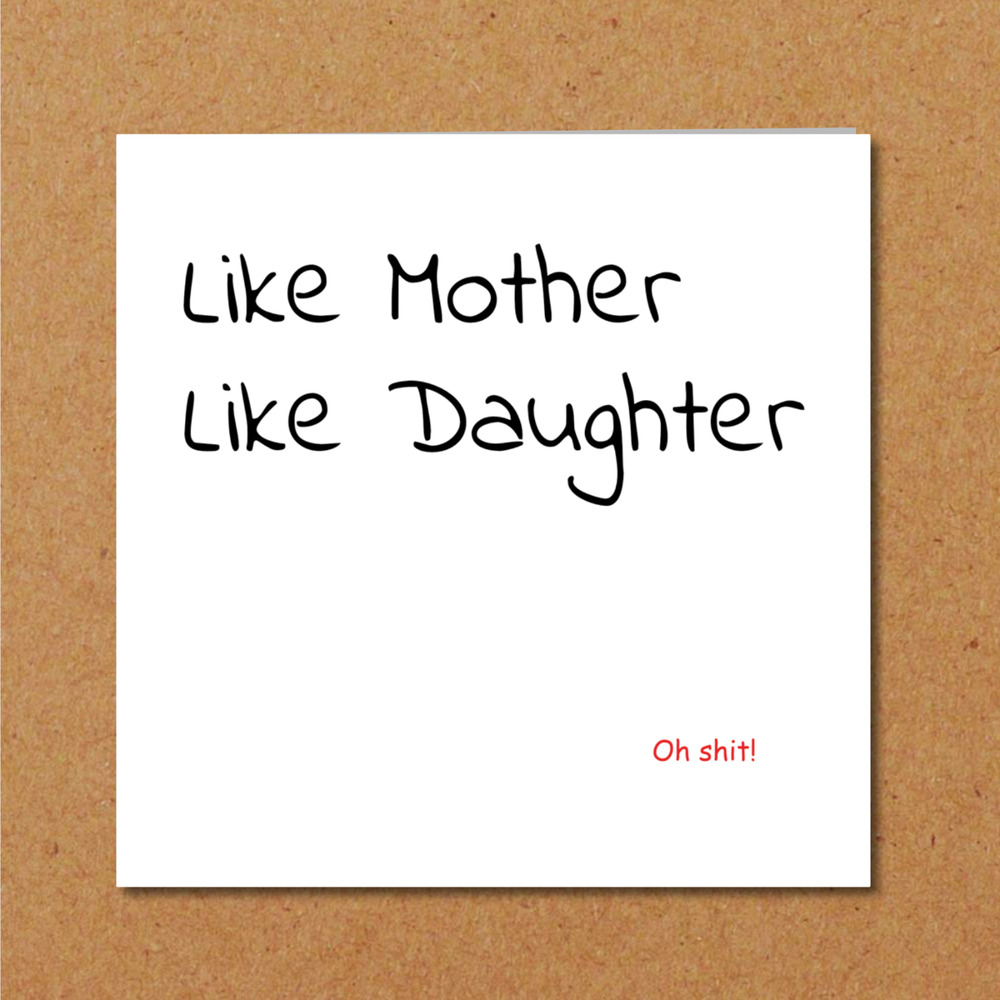 Details About Funny Birthday Card Mothers Day Daughter Husband Son Granny Grandpa