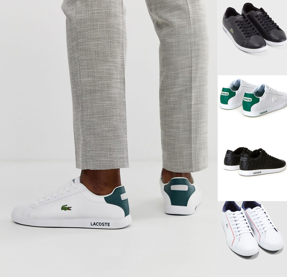 8a8d6739d7f34 Lacoste Mens Shoes GRADUATE Casual Leather Sneakers NEW