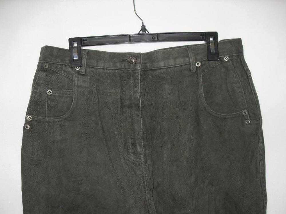 768a4b82b32ba Details about New Women s Christopher   Banks Jeans - Color  Dark Green -  Size  16 - NWOT