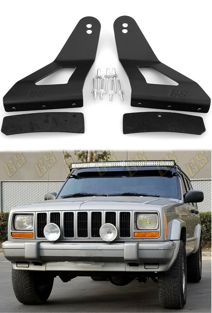 Led Light Bar Mounting Brackets 52 Quot Amp 50 Quot Curved For Jeep